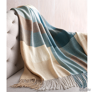 Alpaca Throw - Blue Colorblock