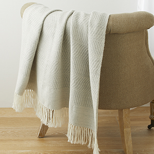 Alpaca Throw - Dove Gray Wave