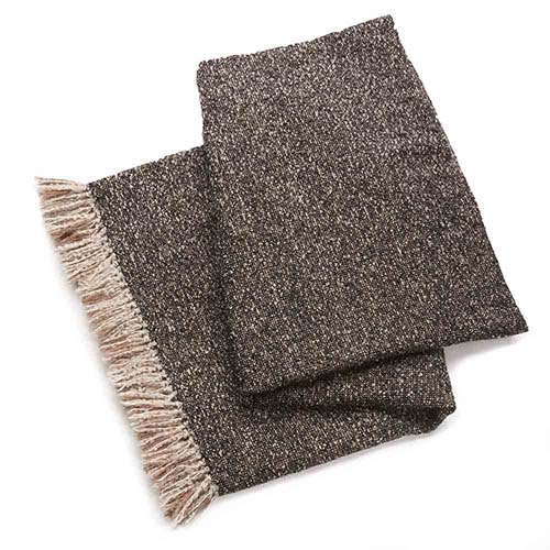 Alpaca Throw - Brown Boucle