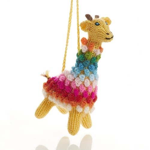 Pom Giraffe Ornament