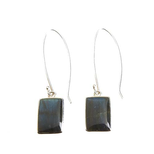 Peruvian Long Labradorite Earrings