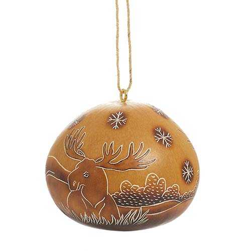 Moose Gourd Ornament