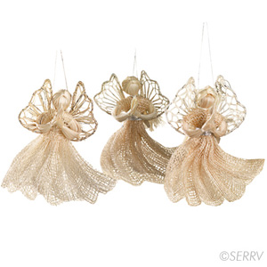 Hosanna Angel Ornaments - Set of 3