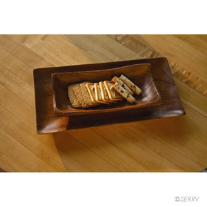 Acacia Wood Trays Set