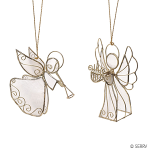 Musical Angel Ornaments - Set of 2