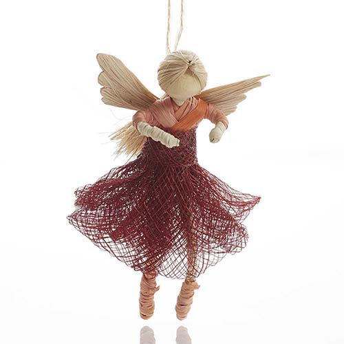 Dancing Angel Ornament - Rosa