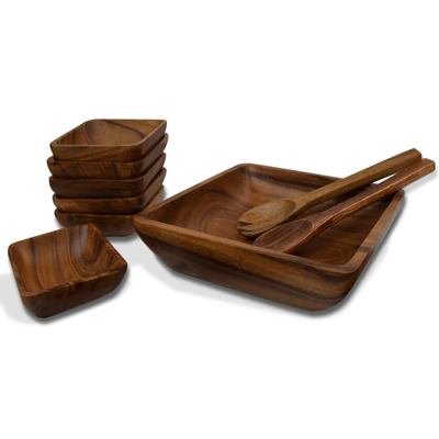 Acacia 9-Piece Salad Set