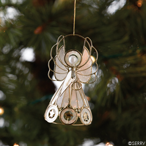 Capiz Angel Ornament