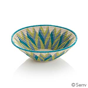 Small Green and Teal Tintsaba Basket