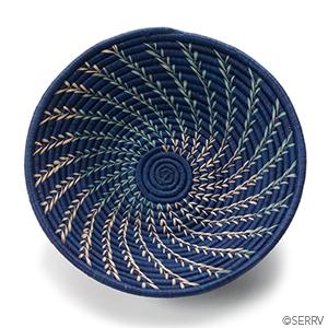 Navy Fern Basket