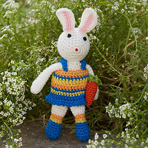Crocheted Bunny with Carrot