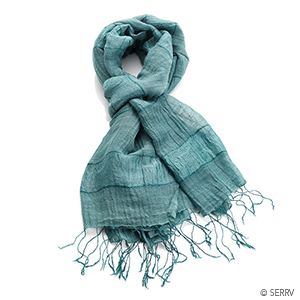 Teal Stripe Scarf