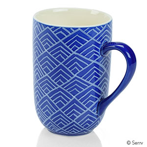 Blue Bat Trang Mountain Mug