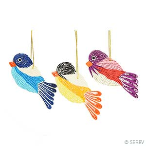 Quilled Birds Ornament Set