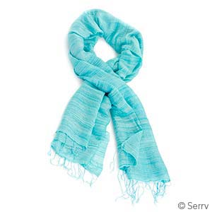 Sky Hand-Spun Silk Scarf