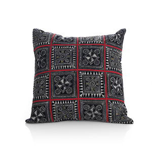 Blue Garden Hmong Pillow
