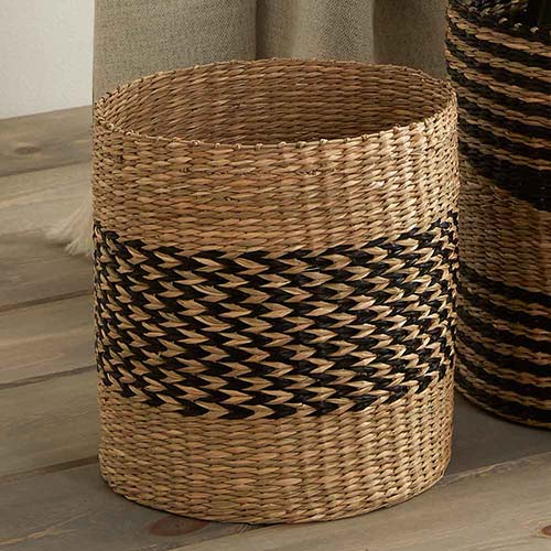 Ninh Binh Basket  - Small Herringbone Stripe