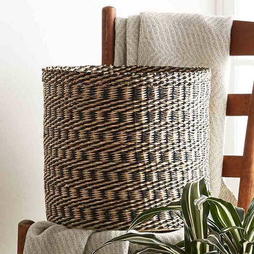 Ninh Binh Basket  - Large Spiral Check
