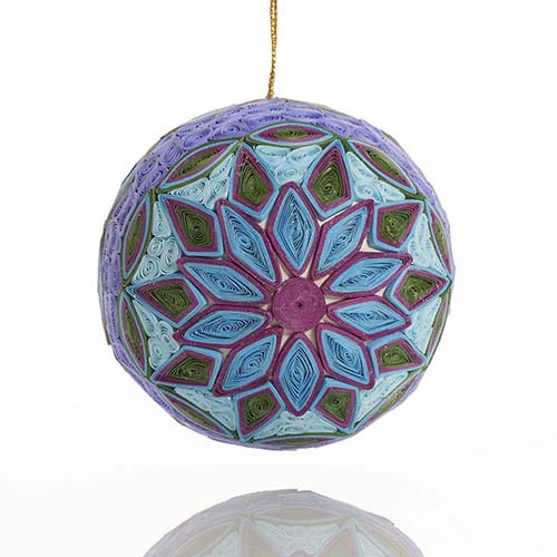 Quilled Blue Star Ball