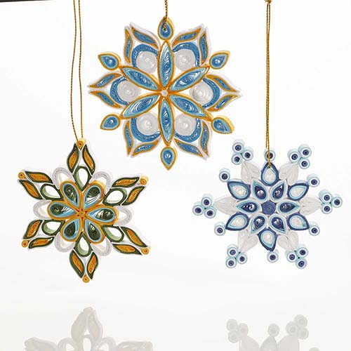Quilled Snowflake Ornament Set