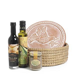 Peace Dove Breadwarmer Gift Basket