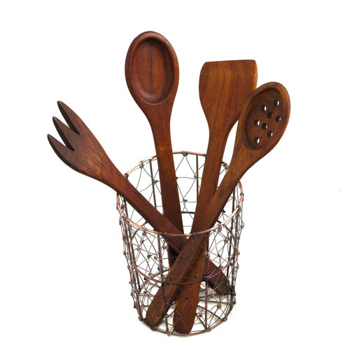 Shesham Utensils & Holder Gift Set