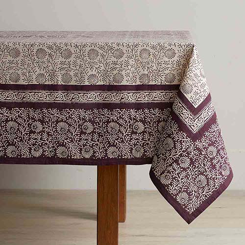 Aubergine Wildflower Tablecloth