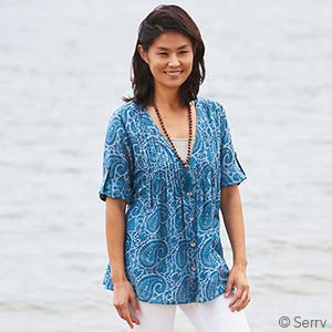 Blue Paisley Favorite Tunic
