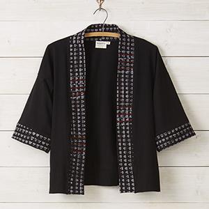 Cropped Jersey Jacket