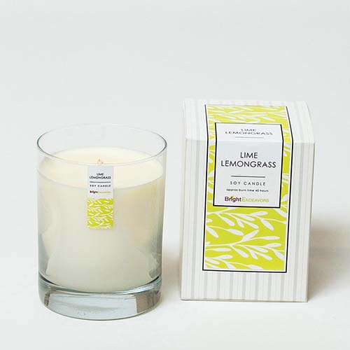 Bright Endeavors Lime Lemongrass Candles