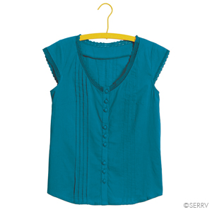 Lacy Shirt-Teal