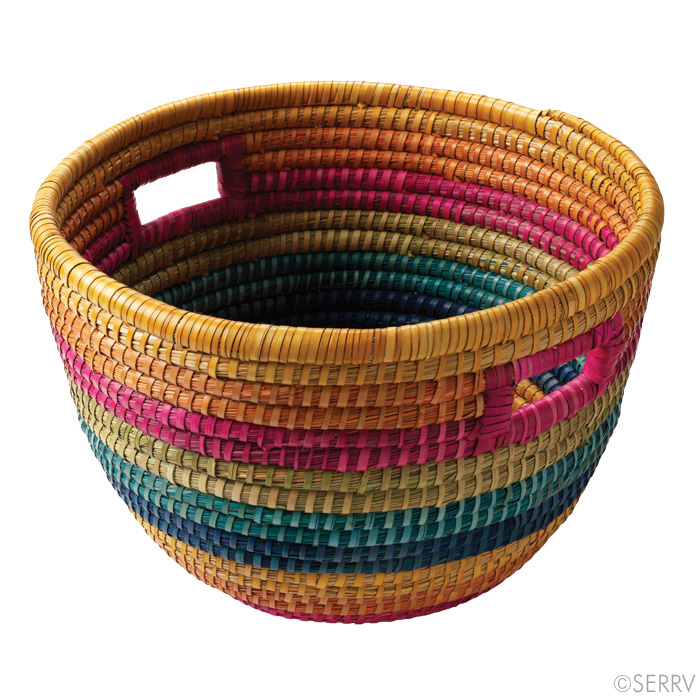 Rainbow Bucket Basket