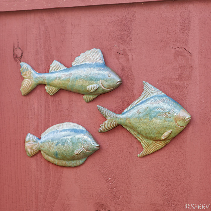 Wall Decor With Fish : Wall art bamessing fish