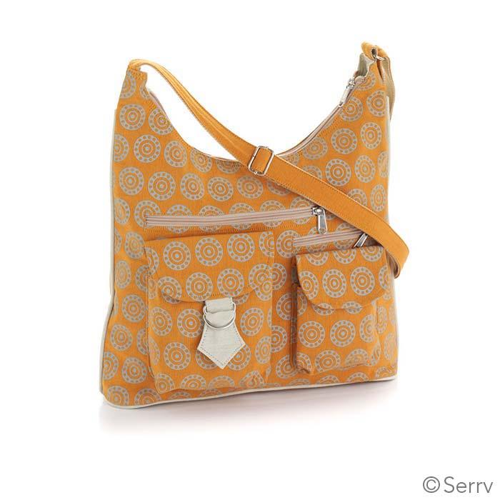 Orange Medallion Bag