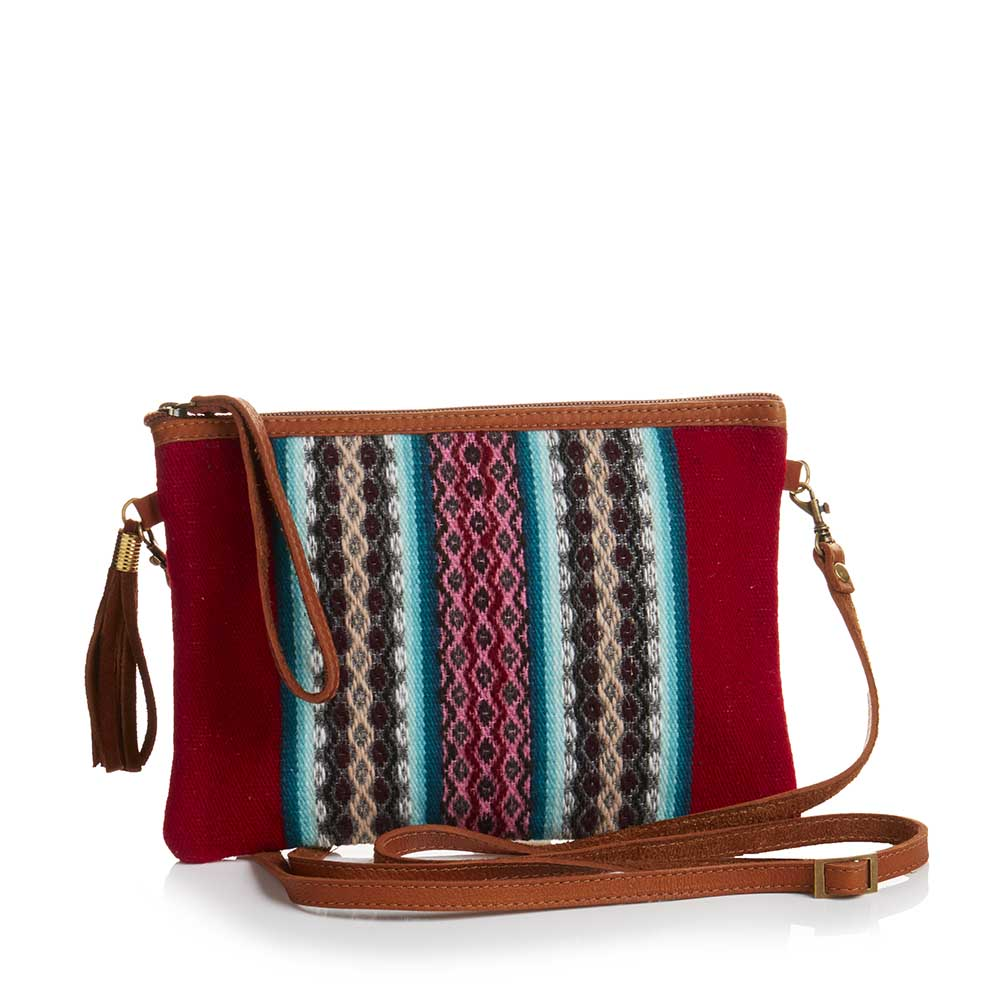 Convertible Crossbody Clutch - Red