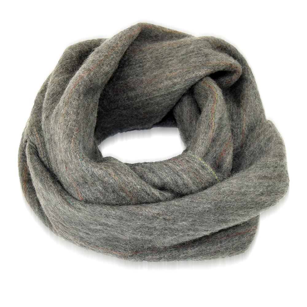 Oversize Infinity Scarf - Variegated Gray