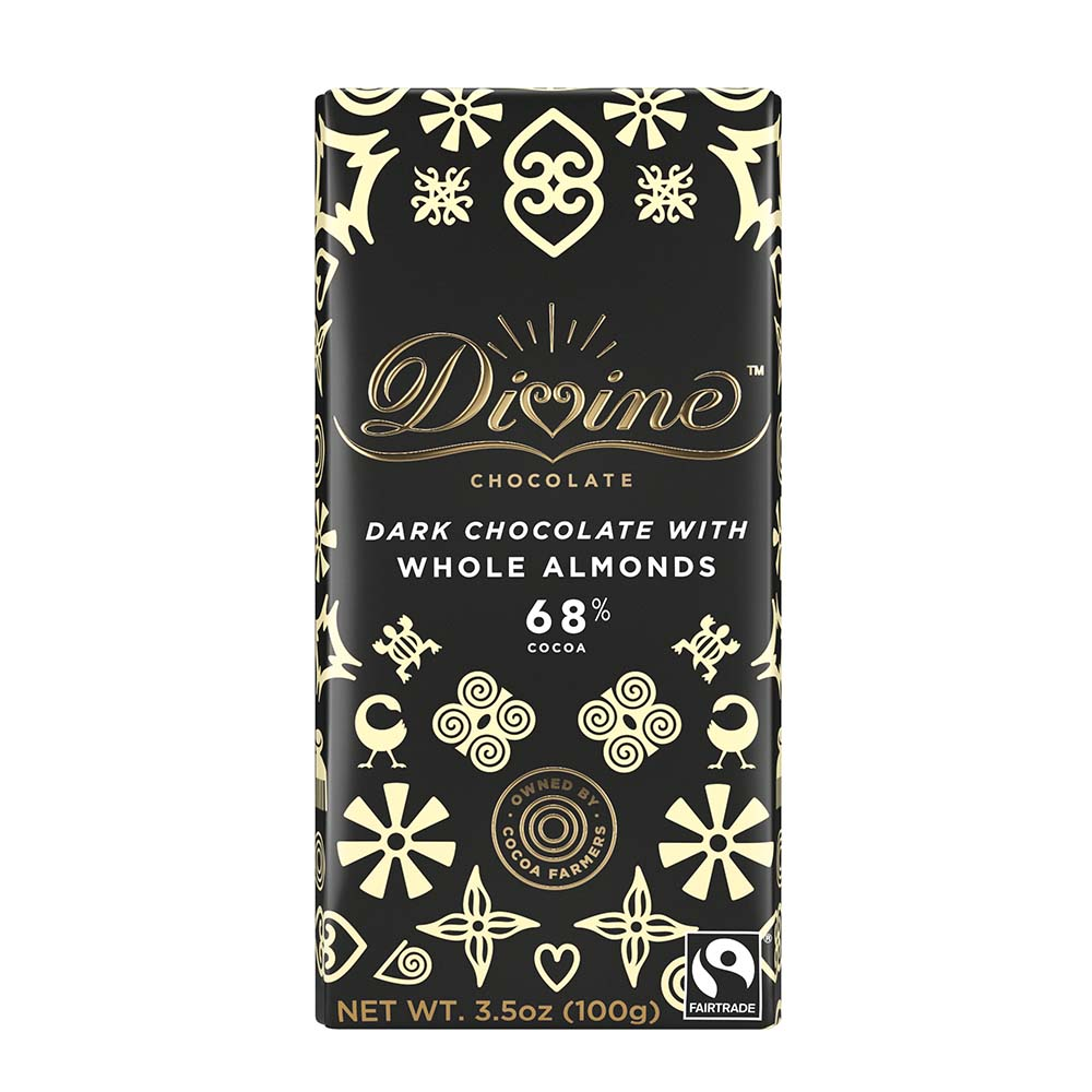 68% Dark Choc Whole Almonds Lg Bar Case