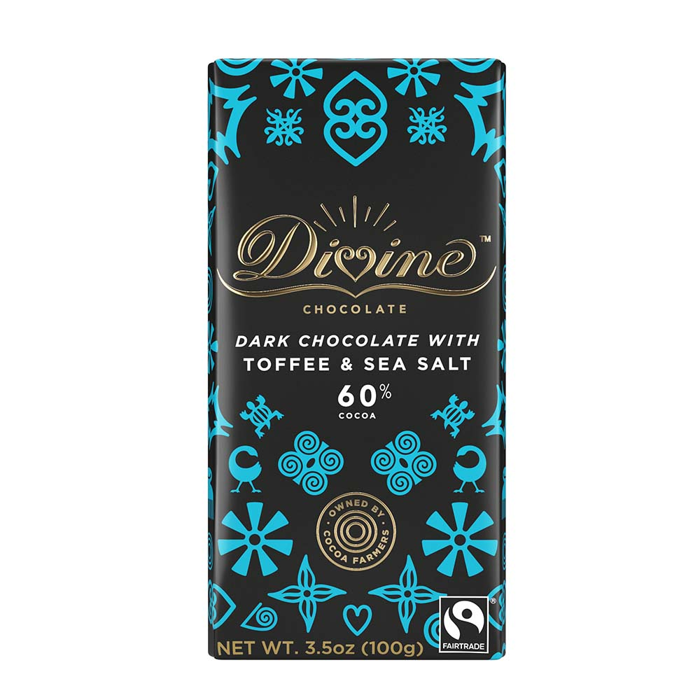 60% Dark Chocolate Sea Salt with Toffee Large Bar Case