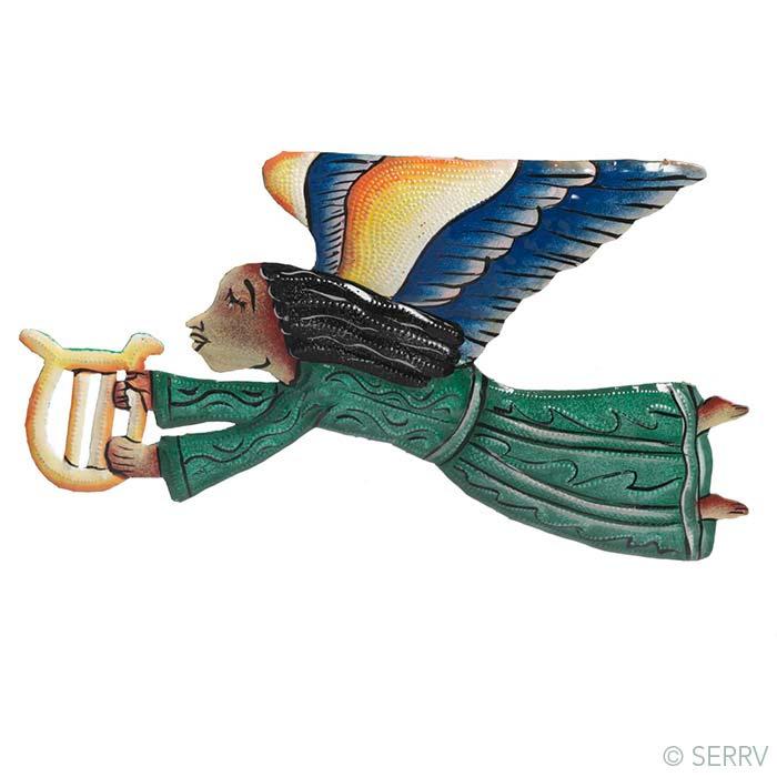 Harp Angel Recycled Wall Art