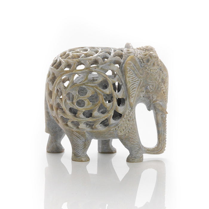 Double-Carved Jali Elephant