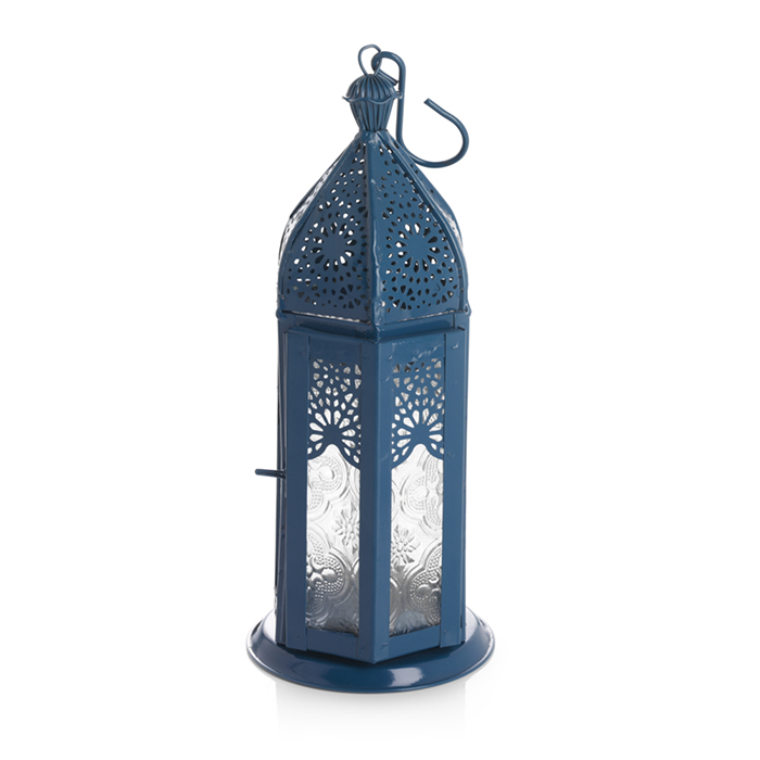Medium Moroccan Motif Metal Lantern