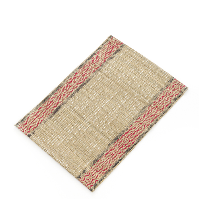 Red & Natural Madur Kathi Set of 2 Placemats