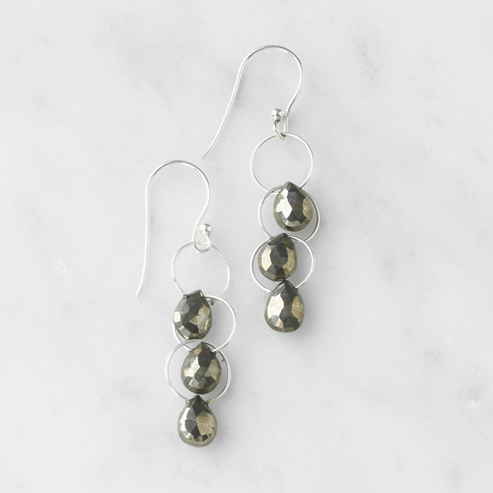 Pyrite Waterfall Earrings
