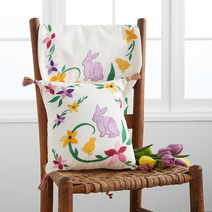 easter embroidered easter table runner. Black Bedroom Furniture Sets. Home Design Ideas