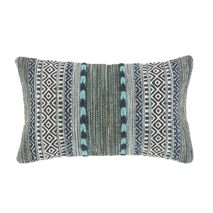 Blue & Green Kilim Lumbar Pillow