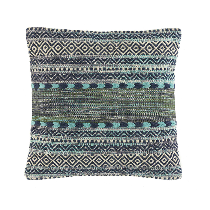 Blue & Green Kilim Square Pillow