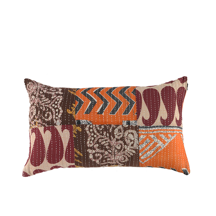 Kantha Patchwork Lumbar Pillow