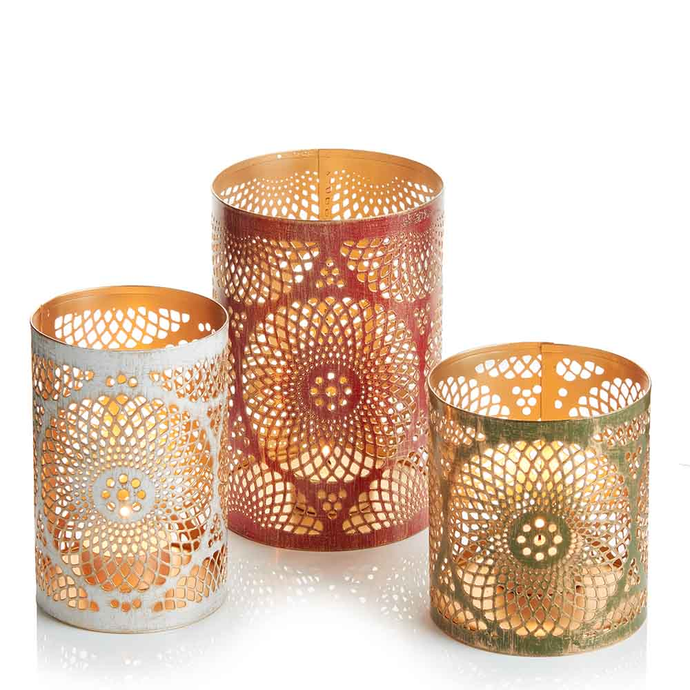 Holiday Mandala Lantern Set
