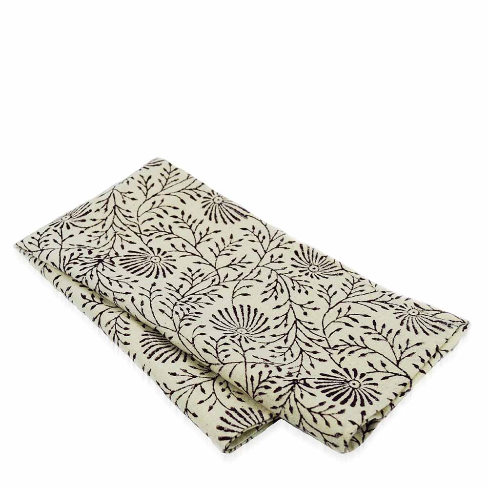 Aubergine Wildflower Napkins Set of 2