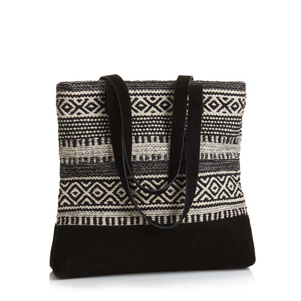 Black-and-White Kilim Tote